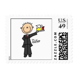 Butler Stick Figure Postage