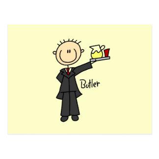 Butler Stick Figure Postcard