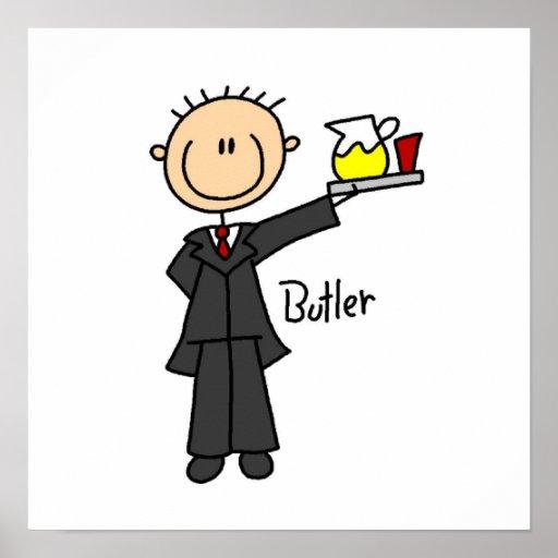 Butler Stick Figure Poster