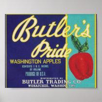 Butler's pride apples poster