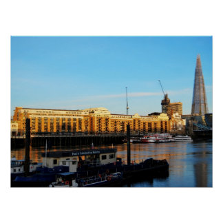 Butler's Wharf and the Shard, London Poster