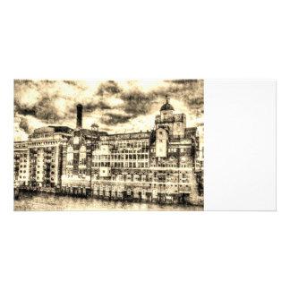 Butlers Wharf London Vintage Card