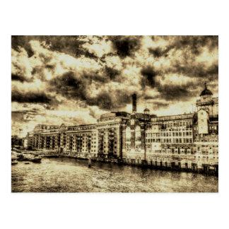 Butlers Wharf London Vintage Postcard