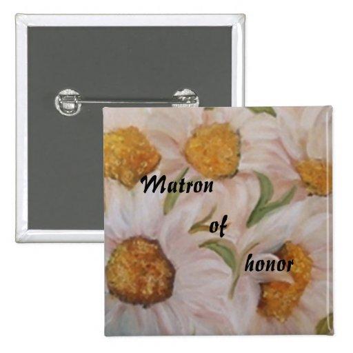 butoon del boda pin cuadrada 5 cm