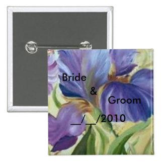 butoon del boda pin cuadrado