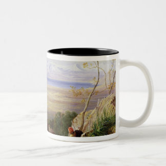 Butrinto, Albania (oil on canvas) Two-Tone Coffee Mug