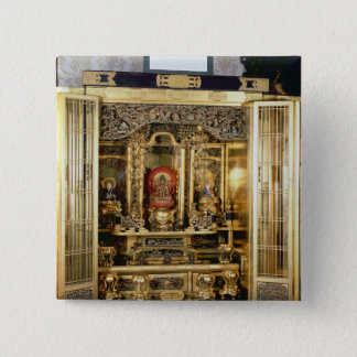 Butsudan shrine from a Damio's palace at Kyoto Pinback Button