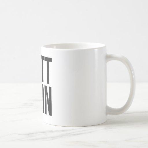 Butt Chin Classic White Coffee Mug