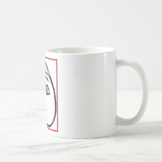 BUTT FACE FEATHER LIPS CLASSIC WHITE COFFEE MUG