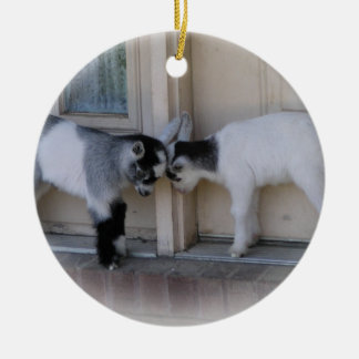 BUTT HEADS BABY GOATS CHRISTMAS ORNAMENTS
