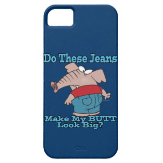 butt look big elephant in jeans cartoon iPhone SE/5/5s case