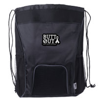 Butt Out Lung Cancer Awareness Drawstring Backpack