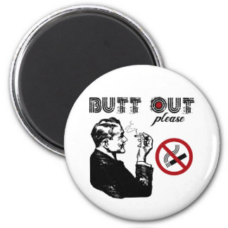 Butt Out. Please 2 Inch Round Magnet