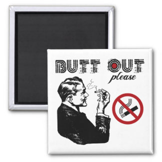 Butt Out. Please 2 Inch Square Magnet