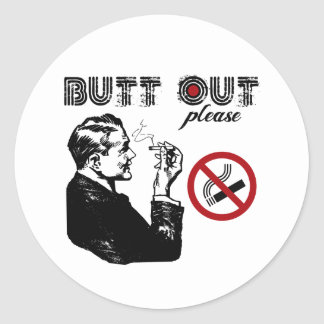 Butt Out. Please Classic Round Sticker