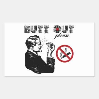 Butt Out. Please Rectangular Sticker
