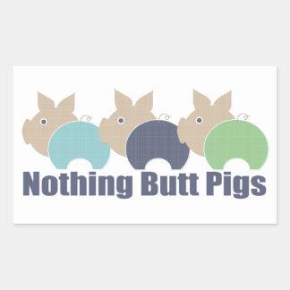 Butt Pigs Rectangular Sticker
