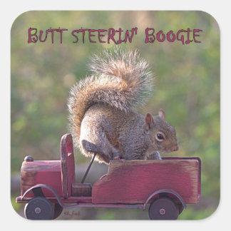 BUTT STEERIN' BOOGIE SQUARE STICKER