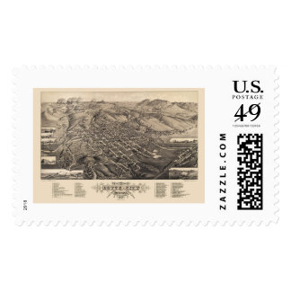 Butte City, MT Panoramic Map - 1884 Stamp
