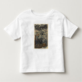 Butte, Montana - Underground Drilling in Copper Toddler T-shirt