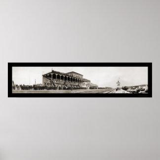 Butte MT Jockey Club Photo 1914 Poster