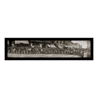 Butte MT Motorcycle Photo 1914 Poster