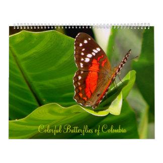 Butteflies tropical calendario de pared