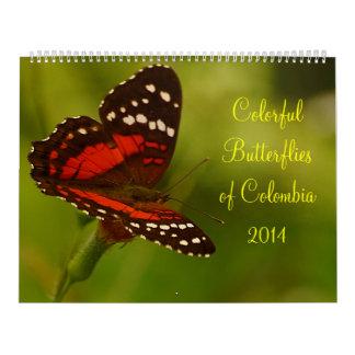 Butteflies tropical de Colombia Calendarios