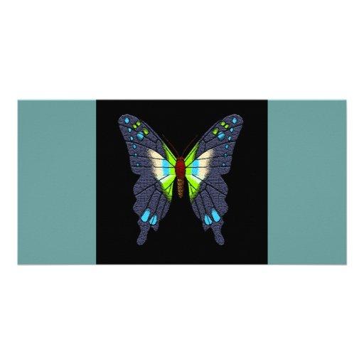 butteflies y polillas tarjeta personal con foto