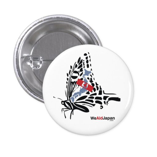 Buttefly Botton 蝶ボタン Pinback Button