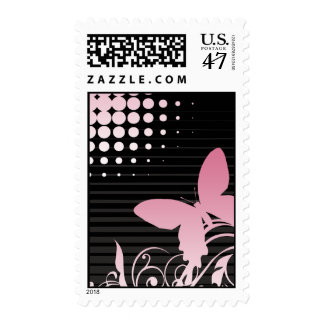 Buttefly Vector Art Postage Stamp