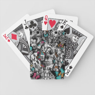 Butter and bones, butterfly skull bicycle playing cards