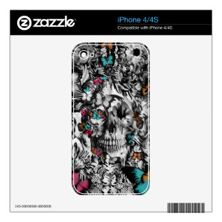 Butter and bones, butterfly skull decal for the iPhone 4S