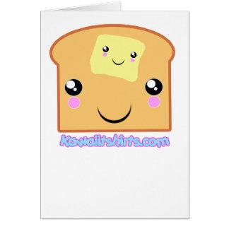 Butter and Toast Kawaii friends Card