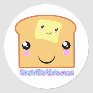 Butter and Toast Kawaii friends Classic Round Sticker