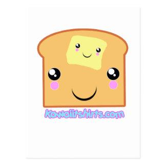 Butter and Toast Kawaii friends Postcard
