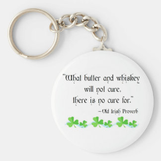 Butter and whiskey keychain