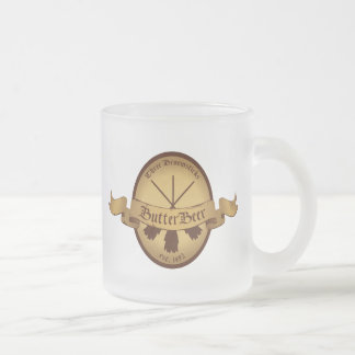 Butter Beer Logo Frosted Glass Coffee Mug