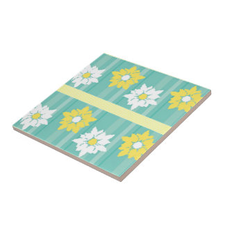 Butter Blossoms (yellow) Ceramic Tile
