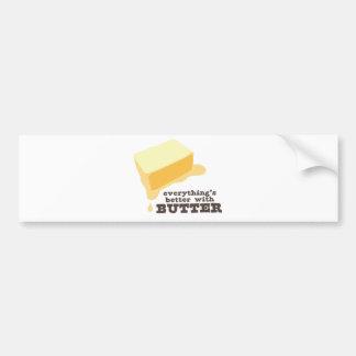 Butter Car Bumper Sticker