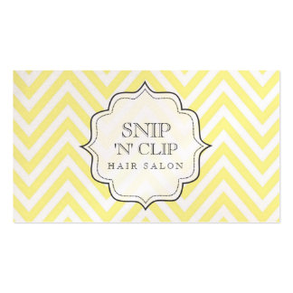 Butter Chevron Filigree Stripes Hair Stylist Cards Double-Sided Standard Business Cards (Pack Of 100)