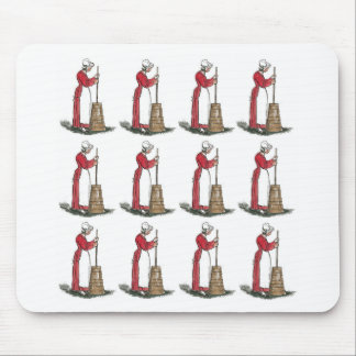 butter churn lady pink mouse pad