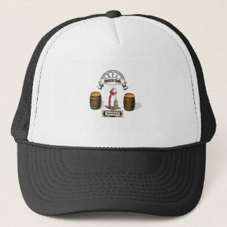 butter churning woman trucker hat