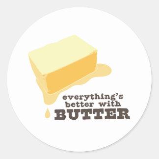 Butter Classic Round Sticker