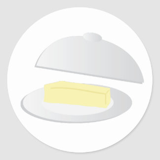 Butter Dish Classic Round Sticker