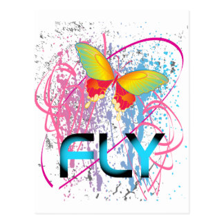 Butter Fly Multi Colour Postcard