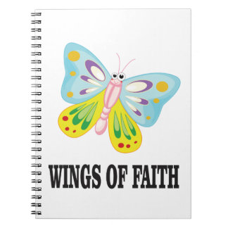 butter fly wings of faith notebook