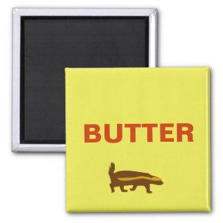 butter honey badger 2 inch square magnet
