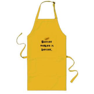 Butter makes it better. long apron