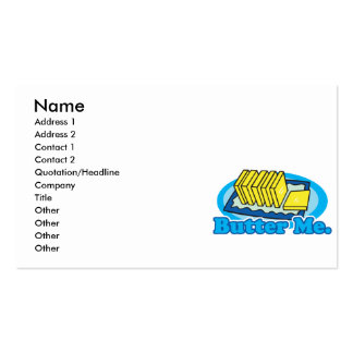 butter me business card template